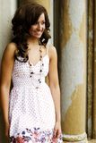 Teenage Fashion Model. Very pretty brunette female teen fashion model Stock Images