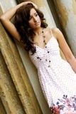 Teenage Fashion Model. Very pretty brunette female teen fashion model Stock Photos