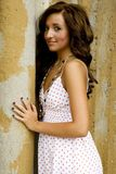 Teenage Fashion Model. Very pretty brunette female teen fashion model Royalty Free Stock Photo
