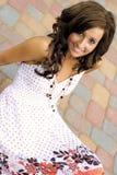 Teenage Fashion Model. Very pretty brunette female teen fashion model Royalty Free Stock Image