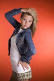 Teenage Fashion Model. A young teenage girl posing for a fashion shoot royalty free stock image
