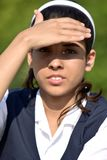 Teenage Female Bright Sunlight stock photos