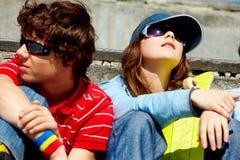 Teenage friends Stock Photo