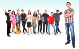 Teenage friends big group Royalty Free Stock Images