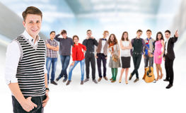 Teenage friends big group Royalty Free Stock Photos