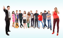 Teenage friends big group Stock Photography