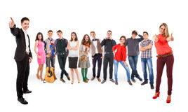 Teenage friends big group Stock Image