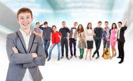 Teenage friends big group Royalty Free Stock Image