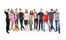 Teenage friends big group Royalty Free Stock Photo