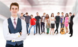 Teenage friends big group Royalty Free Stock Photography