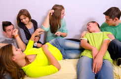 Teenage friends having fun Stock Photos