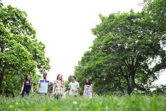 Teenage friends hiking Stock Photography