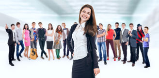 Teenage friends large group Royalty Free Stock Photos