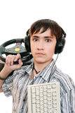 Teenage gamers Stock Images