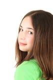Teenage girl. Portrait of a teenage girl, studio shot stock images