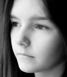 Teenage girl. Deep in thought Royalty Free Stock Photo