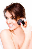 Teenage Girl Applying Make Up Stock Photos