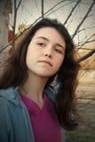 Teenage girl with attitude Stock Photo