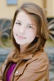 Teenage girl autumn day portrait Stock Photo