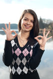 Teenage girl autumn day portrait Stock Images