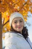 Teenage girl in autumn Stock Image