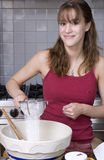 Teenage girl baking Royalty Free Stock Photo