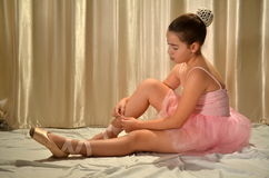 Teenage girl ballet dancer Royalty Free Stock Photos