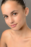 Teenage girl bare shoulders skin beauty close-up Royalty Free Stock Photos