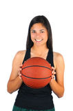 Teenage Girl with Basketball Stock Photography