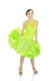 Teenage girl in a beautiful dance dress Royalty Free Stock Photos