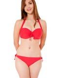Teenage girl in bikini Stock Images