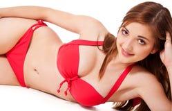 Teenage girl in bikini Royalty Free Stock Image