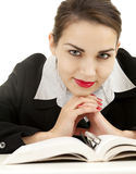 Teenage girl with book Royalty Free Stock Image