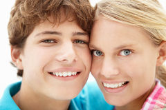 Teenage girl and boy Stock Photo