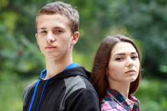 Teenage girl and boy Royalty Free Stock Photos