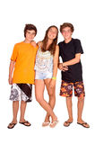 Teenage girl and boys Royalty Free Stock Images