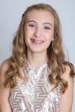 Teenage girl with braces Stock Photos