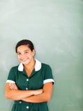 Teenage girl chalkboard Stock Image
