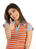 Teenage girl in a challenge action Stock Photo