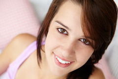 Teenage girl close up smiling Royalty Free Stock Photos
