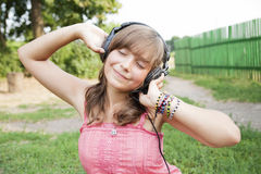 Teenage girl with closed eyes Stock Photos