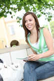 Teenage girl at college Stock Photography