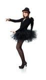 Teenage girl in costume of black angel Stock Photography