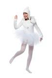 Teenage girl in costume of white angel Stock Photo