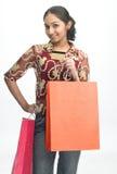 Teenage girl with credit-card Stock Image