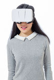 Teenage girl with 3D goggles Stock Photos