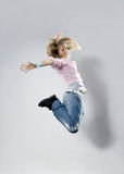 Teenage girl dancing breakdance Royalty Free Stock Images