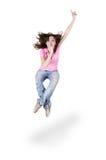 Teenage girl dancing hip-hop Stock Images