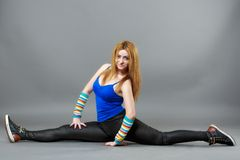 Teenage girl dancing hip-hop studio series Royalty Free Stock Photography