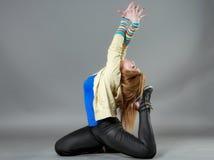 Teenage girl dancing hip-hop studio series Stock Images
